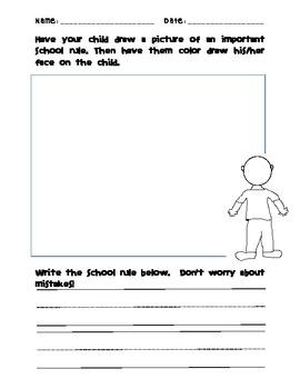 School Rules-- Worksheet