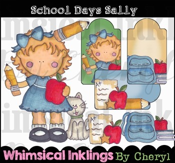 School Sally Clipart Collection