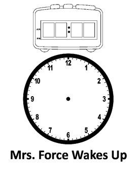 School Schedule Telling Time - Editable