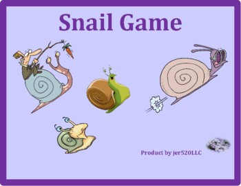 School Subjects in English Snail game