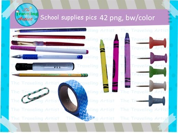 School Supplie Picture stamps