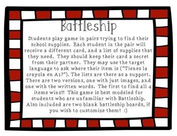 School Supplies Battleship