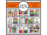 School Supplies Bundle 3 {Graphics for Commercial Use}