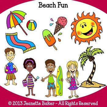 Beach Clip Art by Jeanette Baker