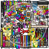School Supplies Clipart MEGA Bundle