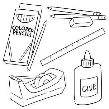 School Supplies Clip Art by Digital Classroom Clipart ...