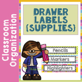 Editable Drawer Labels for School Supplies