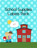 School Supplies Labels