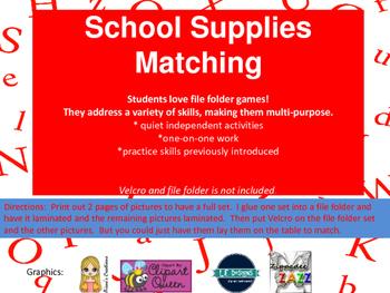 School Supplies Matching