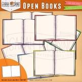Open Books Clip Art - School Supplies