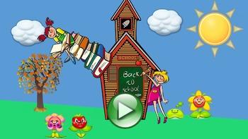 School Supplies PowerPoint Interactive Lesson -- No Prep