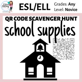 School Supplies - QR Code Scavenger Hunt for Interactive N
