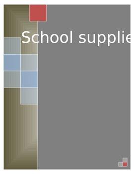School Supplies SPN