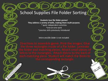 School Supplies Sorting