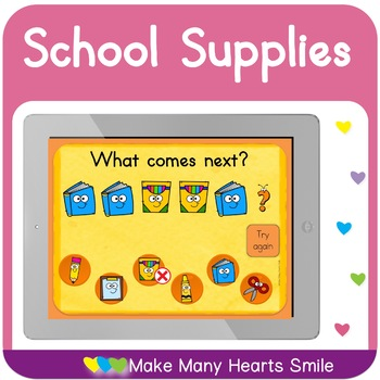 School Supplies What Comes Next Patterns