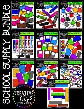 School Supply Bundle {Creative Clips Digital Clipart}