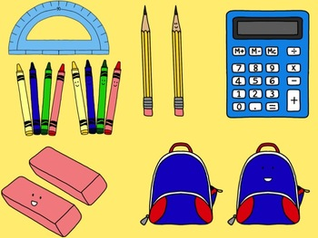 School Supply Clip Art Collection