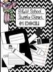 School Supply Clipart (crayons, markers, pencils)
