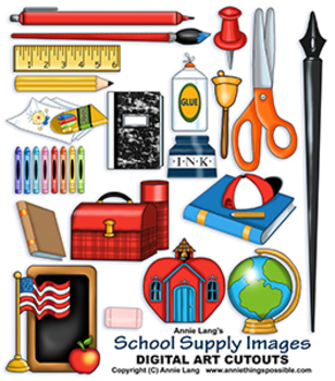 School Supply Images Clipart
