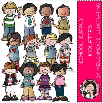 School Supply Kidlettes by Melonheadz COMBO PACK