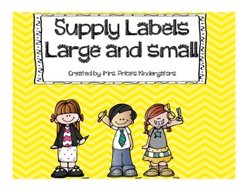School Supply Labels both large and small! Chevron