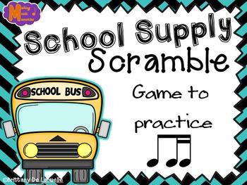 School Supply Scramble - A Game for Practicing Ti-tiri