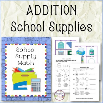 School Supply Workbox Math