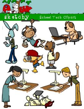 School Technology / Tech Clipart / Graphics 300dpi Color G