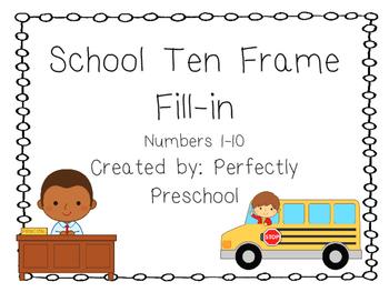 School Ten Frame Fill-in {Dollar Deal}