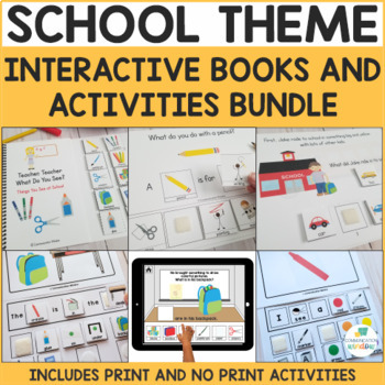 School Theme Adapted Books Bundle - 3 Sets of Adapted Book