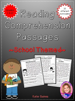 School Themed Reading Passages *JUST PRINT & TEACH!*