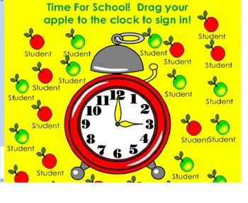 Back to School Themed SMART Notebook Attendance