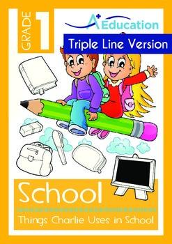 School - Things Charlie Uses in School (with 'Triple-Track
