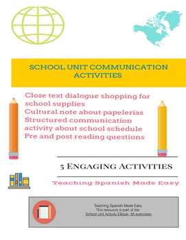 School Unit Communication activity and dialogue about school
