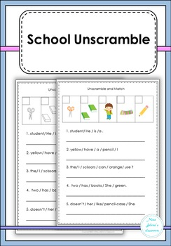 School Unscramble