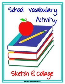 School Vocabulary Activity, Sketch and Collage