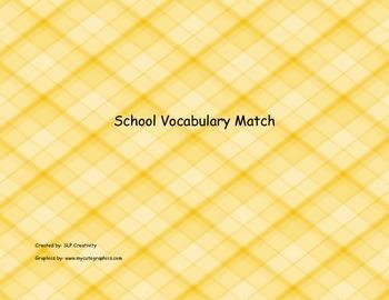 School Vocabulary Match