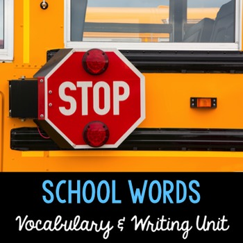 School Words {in English and Spanish}