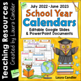 School Year Calendars (Editable)