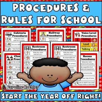 School and Classroom Rules Posters: Editable!