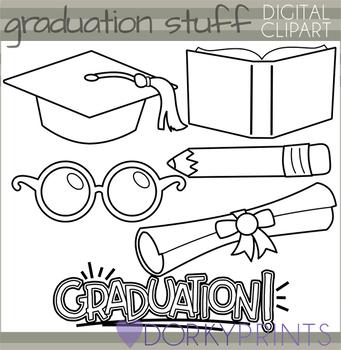 School and Graduation Blackline Clipart