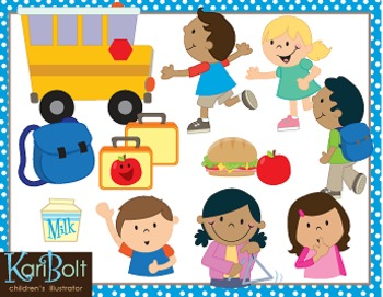 School and School Employees Clip Art Bundle