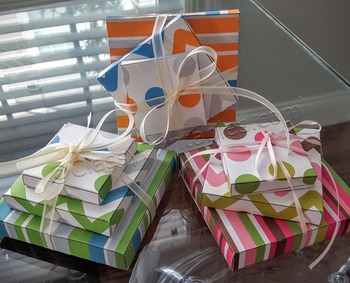 School birthday stacked presents paper craftivities and FR