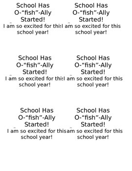 """School has O """"fish"""" ally started label"""