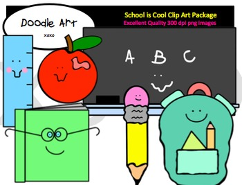 School Days are Here Clipart Pack