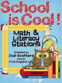 School is Cool Math and Literacy Stations