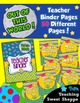 School is Out of This World!  Complete Teacher Binder With