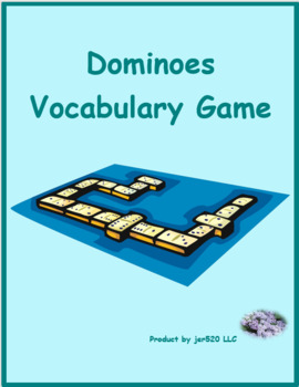 Material escolar (School objects in Portuguese) Dominoes