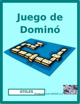 Utiles escolares (School objects in Spanish) Dominoes
