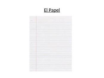 School supplies in Spanish (Materiales Escolares)